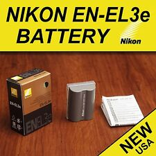 NEW Genuine Nikon Battery EN-EL3e for D50 D70 D70s D80 D90 D100 D200 D300s D700