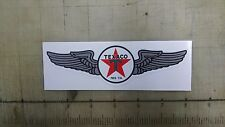 "Vintage Texaco aviation wings gas gasoline sticker 6""x1.75"""