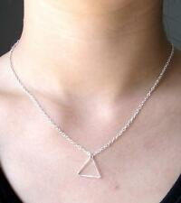 Simple Women Jewelry Triangle Pendant Necklace Chain Choker Collar Necklace New