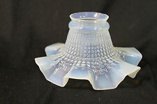 Jugendstil Opalinglas Röckchenschirm Lampenschirm Lampenglas Ersatzglas