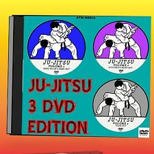 JU-JITSU EASY TO FOLLOW TRAINING LESSONS  2+ HRS  ALL LEVELS NEW 3 DVD SET