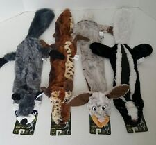 """Bow Wow Pet Set of 4 Stuffing Free 28"""" Squeak Dog Toys Forrest Creature Series"""