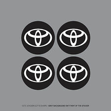 SKU2116 - 4 x Toyota Wheel Centre Stickers Badges Car - 54mm