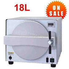18L 900W Medical Steam Autoclave Sterilizer Dental Lab Equipment Stainless Steel