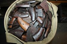 WW2 SMITH & WESSON VICTORY MODEL 38 REVOLVER WOODEN GRIPS Set with Screw