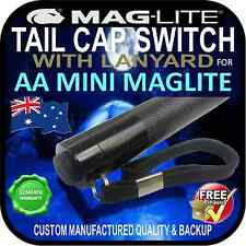 MAGLITE TORCH FLASHLIGHT AA MINI TAIL CAP SWITCH & LANYARD PUSH BUTTON BLACK