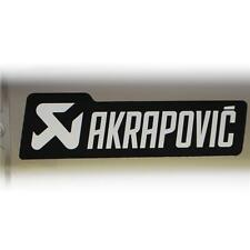NEW GENUINE SILVER AKRAPOVIC 135x38 HEAT PROOF EXHAUST STICKER DECAL