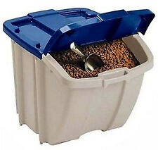 Food Storage Bin 50 Lbs Dog Container Pet Cat Animal Feeding 72 Quart Capacity