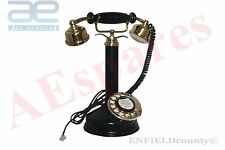 NEW ANTIQUE STYLE MAHARANI PHONE QUEEN TELEPHONE BLACK OLD VINTAGE @AEs
