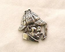 Sherlock Holmes Pin Badge in Fine English Pewter, Handmade (ae)