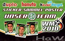 FERRERO - WM - 2010 - Sammelposter + kompl. loser Satz - nicht aus Riegeln mint