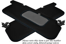 BLUE STITCH FITS SUBARU IMPREZA WRX STI 92-98 2X SUN VISORS LEATHER COVERS ONLY