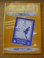 Jul-2003 Programme Monthly & Collectable: The Voice Of 'Football Programme' Coll
