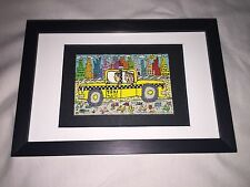 "James RIZZI: Original Farblithographie ""TAXI TAKE US HOME"", 3D Vorlage, gerahmt"