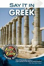 Say It in Greek (Modern) (Dover Language Guides Say It Series) by Dover