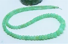 RARE GEL TRANSLUCENT AUSTRALIAN APPLE GREEN CHRYSOPRASE DONDELLE BEADS 2.5-8mm