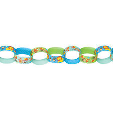 12ft Wild Fun To Be One Blue Boy's 1st Birthday Party Paper Links Chain Garland