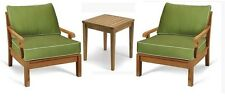 3 PC TEAK SOFA SET GARDEN INDOOR OUTDOOR PATIO FURNITURE POOL SACK DINING DECK A
