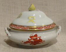 Herend Chinese Bouquet Rust Mini Tureen 6017/ AOG with Early Backstamp