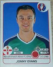 331 Jonny Evans NORTHERN IRELAND Panini Euro 2016 France sticker