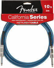 Fender 10' California Series Instrument Cable, Lake Placid Blue, Brand New !