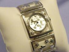 Brighton GAINSVILLE Butterfly/Flower Silver Link Metal Bracelet Watch NEW! $120