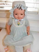 "Vintage Effanbee 16"" Lovums Composition Doll With Bracelet Cloth Body Sleep Eyes"