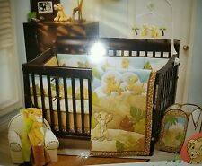 LION KING SIMBA 4 PC CRIB BEDDING SET-WALL DECOR+ BUMPER+ MUSICAL MOBILE+ HAMPER
