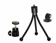 "Mini Ball And Socket Head 1/4"" Thread + Wire Mini Tripod & Gopro Tripod Adapter"