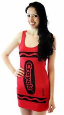 CHOOSE COLOR: Womens Juniors Art Crayola Crayon Fancy Costume Tunic Tank Dress