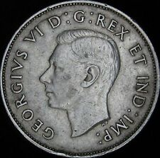 1940 XF Details Dinged Canada Silver 50 Cents (Fifty, Half) - KM# 36 - JG