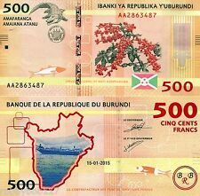 BURUNDI 500 Francs Banknote World Paper Money UNC Currency Pick p-50 Alligator