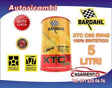 5 LT LITRO OLIO MOTORE AUTO BARDAHL XTC C60 5W40 POLAR PLUS FULLERENE