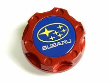 RED CNC BILLET RACING ENGINE OIL FILLER CAP FOR SUBARU B
