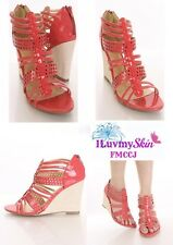 FAHRENHEIT Color CORAL Patent Heels Size 6 (NEW)