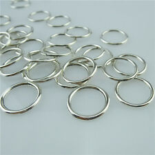 13994 120PCS Vintage Silver Tone Round Circle Connector Pendant Charms