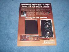 """1977 Panasonic Stereo System Vintage Ad """"...24 Ways to get Hi-Fi Without Hassle"""""""