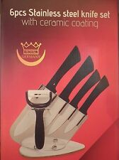 NEW - Royal Germany 6pcs Stainless Steel Knife Set with Ceramic Coating