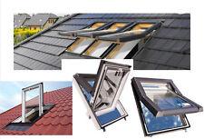 PVC Kunststoff Dachfenster SKYFENSTER 66x118 mit Eindeckrahmen + Versand Gratis