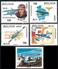 BOLIVIA 1974 AIR FORCE SC# C331-335 VF MNH PLANES MILITARY AVIATION (DEL19)