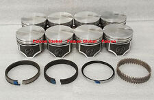 """Ford 460 Speed Pro Hypereutectic Coated Flat Top Pistons+Cast Rings Kit .030"""""""