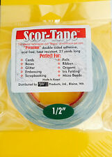 "Scor-Tape Adhesive 1/2"" x 27yd by Scor-Pal - Great Deal! FREE SHIPPING!!!"