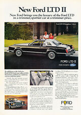 1977 Ford LTD II - brougham blk coupe -    Classic Vintage Advertisement Ad H93