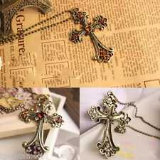 Steel Style Pendant Necklace Crucifix Cross Jesus Gold Chain Body Fashion