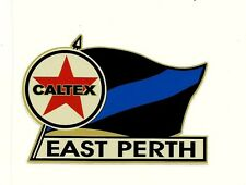 CALTEX & EAST PERTH Vinyl Decal Sticker PETROL PROMO WAFL afl vfl FOOTBALL