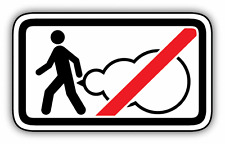 """Do Not Fart Funny Ban Stop Sign Car Bumper Sticker Decal 6"""" x 3"""""""