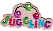 """JUGGLING"" - Iron On Embroidered Patch /Games, Fun, Competition"