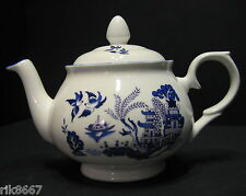 Willow Pattern 2 Cup English Fine Bone China Tea Pot By Milton China