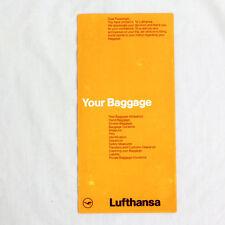 Lufthansa - Della Compagnia Aerea Pubblicità Brochure - La Tua Bagagli - 1980s