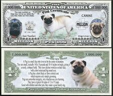 Lot of 500 Bills - Pug Million Dollar Dog Bill Puppy & Adult Pics, Facts on Back